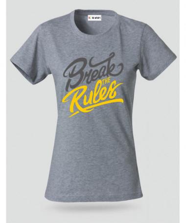 Break The Rules T-shirt Basic Donna