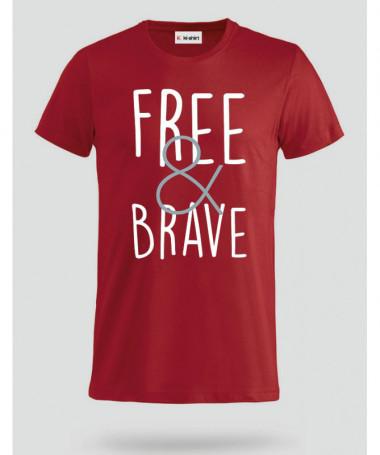 Free & Brave T-shirt Basic Uomo