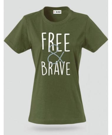 Free & Brave T-shirt Basic Donna