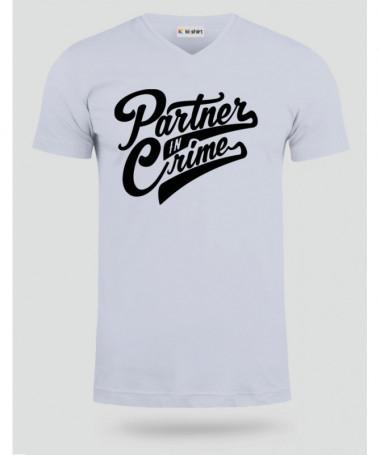 Partner In Crime T-shirt Scollo V
