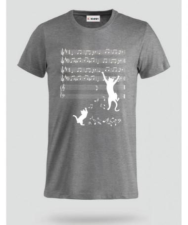 Cat and note T-shirt Basic Uomo
