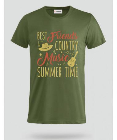 Country music T-shirt Basic Uomo