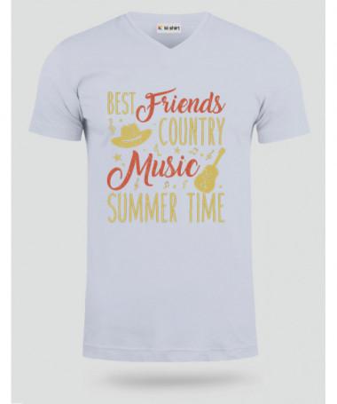 Country music T-shirt Scollo V