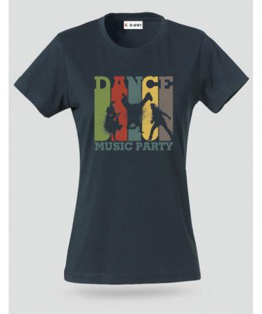 Dance music T-shirt Basic Donna