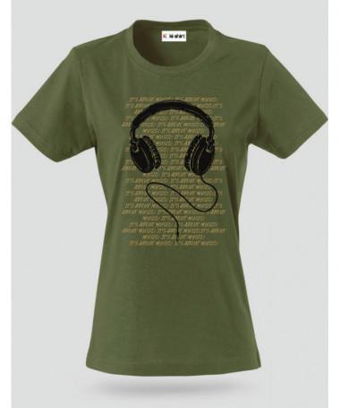 Headphone T-shirt Basic Donna