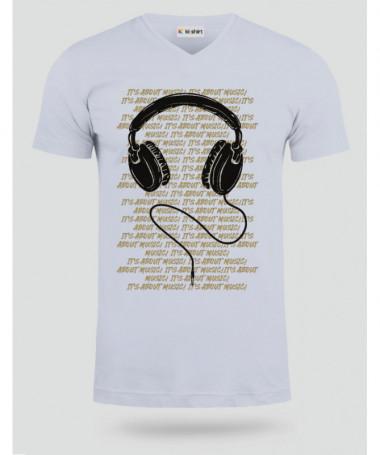 Headphone T-shirt Scollo V