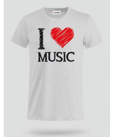 I love music T-shirt Basic Uomo