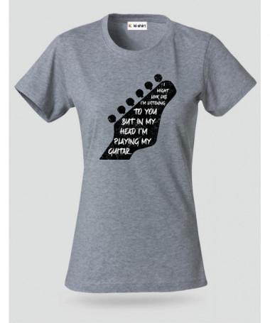 Im playing my guitar T-shirt Basic Donna