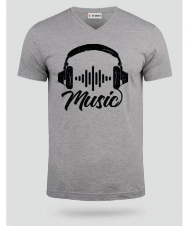 Musica T-shirt Scollo V