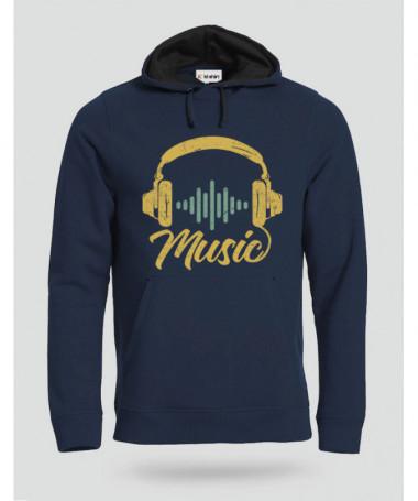 Musica Felpa Premium con cappuccio Uomo
