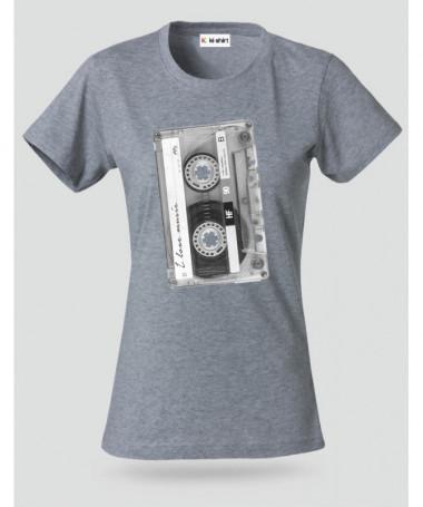 Musicassetta T-shirt Basic Donna