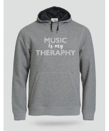 Music is my therapy Felpa Premium con cappuccio Uomo
