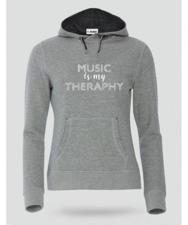 Music is my therapy Felpa Premium con cappuccio Donna