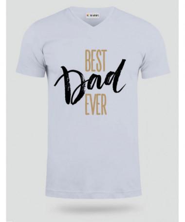 Best Dad Ever T-shirt Scollo V
