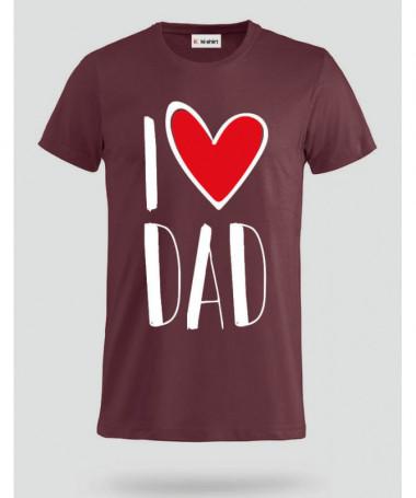 I Love Dad T-shirt Basic Uomo