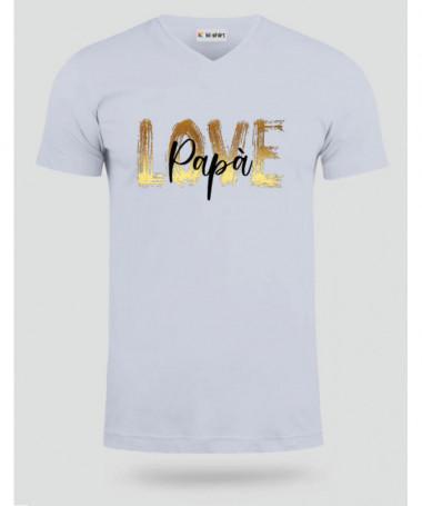 Love Papà T-shirt Scollo V