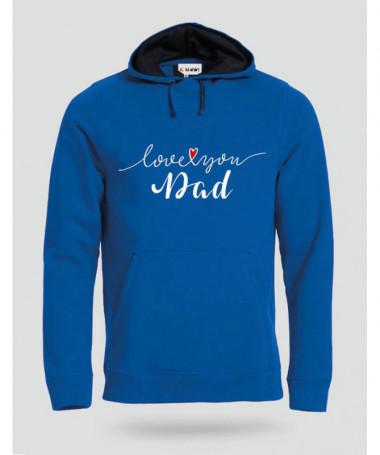 Love you dad Felpa Premium con cappuccio Uomo