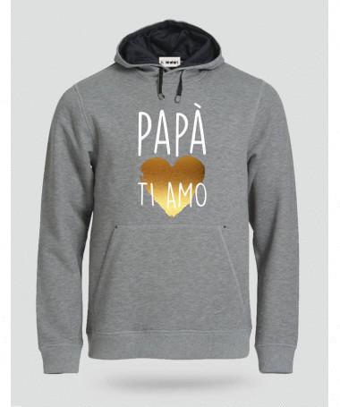 Papà ti amo Felpa Premium con cappuccio Uomo