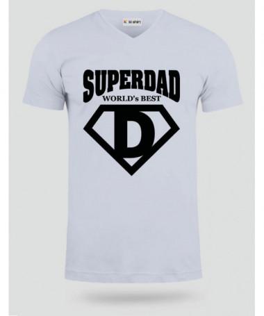 Super Dad T-shirt Scollo V