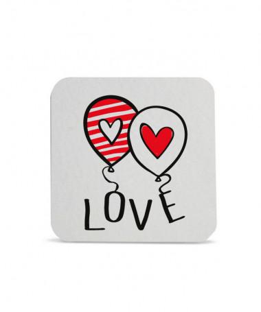 Sottobicchiere Love