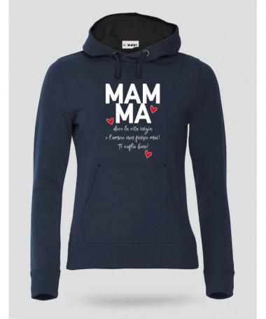 Definizione di Mamma Felpa Premium con cappuccio Donna