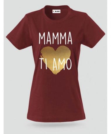 Mamma ti amo T-shirt Basic Donna