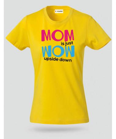 Mom Wow T-shirt Basic Donna