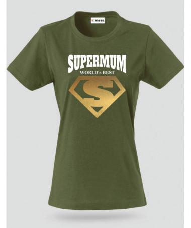 Super Mum T-shirt Basic Donna