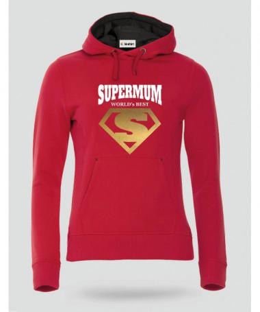 Super Mum Felpa Premium con cappuccio Donna