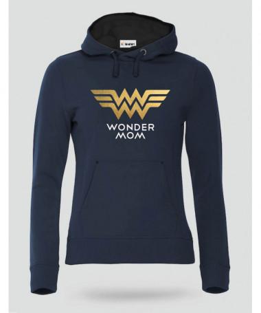 Wonder Mom Felpa Premium con cappuccio Donna